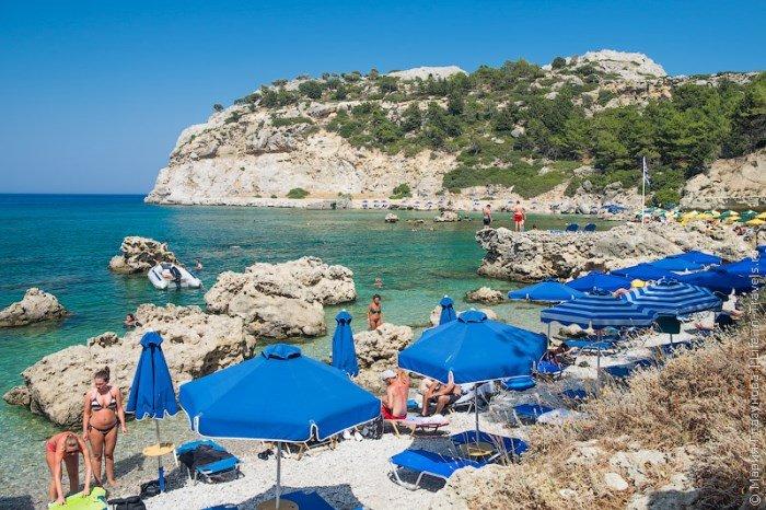 пляжи Родоса, Бухта Энтони Куинна, Греция