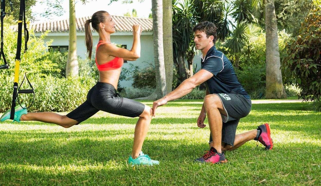 фитнес тренер, спортивные тренировки в Греции